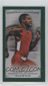2016 Upper Deck Goodwin Champions - [Base] - Cloth Minis Lady Luck Back #71 - Justin Gatlin /25
