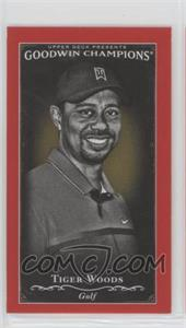 2016 Upper Deck Goodwin Champions - [Base] - Minis Royal Red #113 - Black & White - Tiger Woods