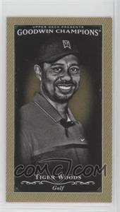2016 Upper Deck Goodwin Champions - [Base] - Minis #113 - Black & White - Tiger Woods