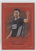 1st 50 Completed Royal Red E1-E3 Master Sets - Ben Simmons