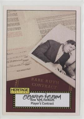 2017 Heritage Auctions - [Base] #16 - Babe Ruth (1930-31 Signed Yankees Contract)