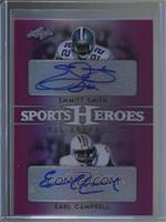 Emmitt Smith, Earl Campbell #/2