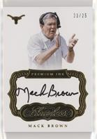 Mack Brown #/25