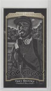 2017 Upper Deck Goodwin Champions - [Base] - Canvas Mini Blank Back #142 - Black & White - Trey Griffey