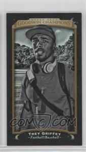 2017 Upper Deck Goodwin Champions - [Base] - Metal Mini Black Magician Back #142 - Black & White - Trey Griffey /17