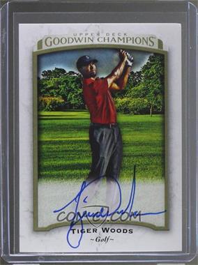 2017 Upper Deck Goodwin Champions - [Base] - Photo Variations Achievement Autographs [Autographed] #45 - Tiger Woods