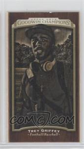 2017 Upper Deck Goodwin Champions - [Base] - Wood Mini Lumberjack Back #142 - Black & White - Trey Griffey /8