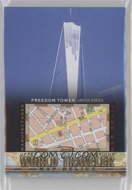 2017 Upper Deck Goodwin Champions - World Traveler Map Relics #WT-15 - Freedom Tower, USA