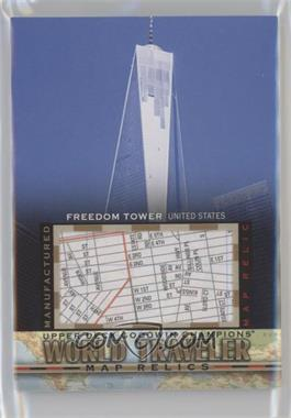 2017 Upper Deck Goodwin Champions - World Traveler Map Relics #WT-15 - Freedom Tower, USA