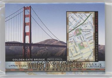 2017 Upper Deck Goodwin Champions - World Traveler Map Relics #WT-16 - Golden Gate Bridge, USA