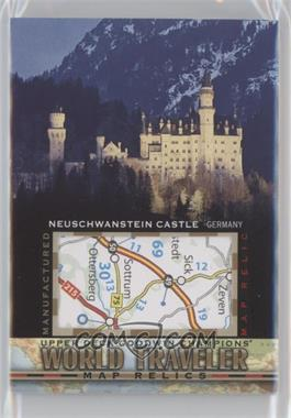 2017 Upper Deck Goodwin Champions - World Traveler Map Relics #WT-29 - Neuschwanstein Castle, Germany
