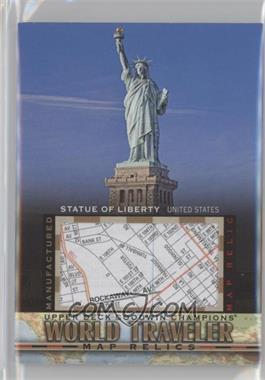 2017 Upper Deck Goodwin Champions - World Traveler Map Relics #WT-42 - Statue Of Liberty, USA