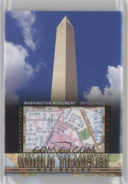 2017 Upper Deck Goodwin Champions - World Traveler Map Relics #WT-50 - Washington Monument, USA