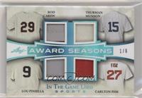 Rod Carew, Thurman Munson, Lou Piniella, Carlton Fisk #/6