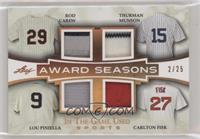 Rod Carew, Thurman Munson, Lou Piniella, Carlton Fisk /25