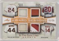 Willie Mays, Frank Robinson, Willie McCovey, Pete Rose /25
