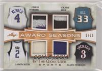 Chris Webber, Grant Hill, Jason Kidd, Allen Iverson #/25