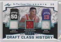 David Robinson, Scottie Pippen, Mark Jackson #/6