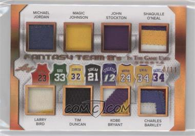 2018 Leaf In The Game Used Sports - Fantasy Team 8's - Bronze #FT8-02 - Michael Jordan, Larry Bird, Magic Johnson, Tim Duncan, John Stockton, Kobe Bryant, Shaquille O'Neal, Charles Barkley /11