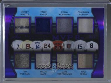 2018 Leaf In The Game Used Sports - MVP 8's - Purple #MVP8-07 - Mickey Mantle, Ernie Banks, Frank Robinson, Thurman Munson, Ted Williams, Willie Mays, Carl Yastrzemski, Yogi Berra /9