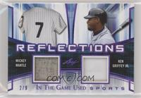 Mickey Mantle, Ken Griffey Jr. [Noted] #/9