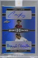 Carli Lloyd, Brandi Chastain [Uncirculated] #/15