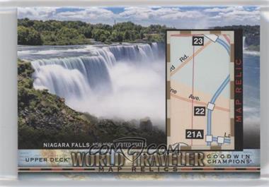 2018 Upper Deck Goodwin Champions - World Traveler Map Relics #WT-112 - Niagara Falls, United States