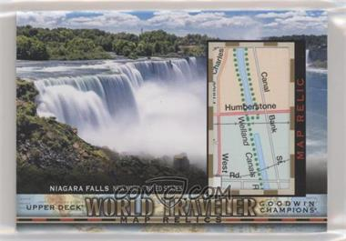 2018 Upper Deck Goodwin Champions - World Traveler Map Relics #WT-112 - Niagara Falls, United States