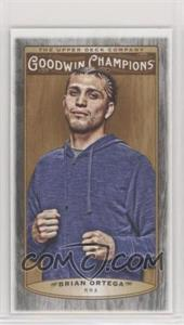 2019 Goodwin Champions - [Base] - Wood Mini Black Lumberjack Back #8 - Brian Ortega /8