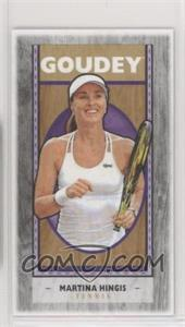 2019 Goodwin Champions - Goudey - Wood Mini Black Lumberjack Back #G35 - Martina Hingis /8