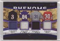 Allen Iverson, Randy Moss, Mike Piazza, Ed Belfour #/15