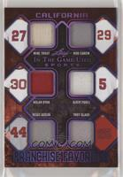 Mike Trout, Rod Carew, Nolan Ryan, Albert Pujols, Reggie Jackson, Troy Glaus #/…