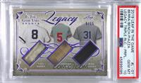 Yogi Berra, Johnny Bench, Mike Piazza [PSA 10 GEM MT] #/15