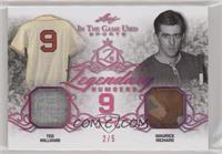 Ted Williams, Maurice Richard #/5