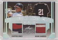 Chipper Jones, Deion Sanders #/2