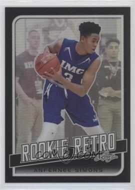 2019 Leaf Rookie Retro - [Base] - Black #RR-01 - Anfernee Simons /15