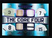 Babe Ruth, Yogi Berra, Thurman Munson, Mickey Mantle #/7