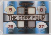 Ted Williams, Carl Yastrzemski, Wade Boggs, Carlton Fisk #/25