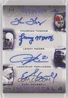 Thurman Thomas, Lenny Moore, LaDainian Tomlinson, Earl Campbell #/5