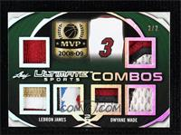LeBron James, Dwyane Wade #/2