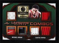 Michael Jordan, Scottie Pippen [Noted] #/25