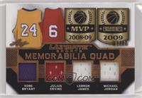 Kobe Bryant, Julius Erving, LeBron James, Michael Jordan #/25