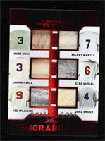 Babe Ruth, Mickey Mantle, Johnny Mize, Stan Musial, Ted Williams, Duke Snider #…