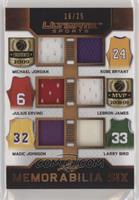 Michael Jordan, Kobe Bryant, Julius Erving, LeBron James, Magic Johnson, Larry …