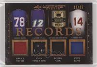 Bruce Smith, John Stockton, Bobby Orr, Pete Rose #/25