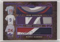 Juan González, Vinny Castilla, Manny Ramirez #/5