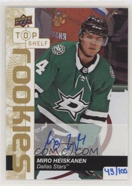 2019 Upper Deck National Convention - Top Shelf Rookies Autographs #TSA-MH - Miro Heiskanen /100