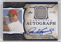 Ivan Rodriguez #/35
