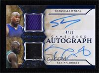 Shaquille O'Neal, Kevin Garnett [Noted] #/12