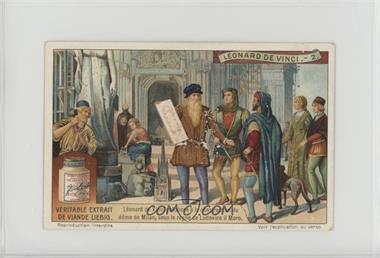 1900s Liebig Leonardo da Vinci - [Base] - French #2 - Leonard de vinci collabore a la constuction du deom de Milan [GoodtoVG‑EX]